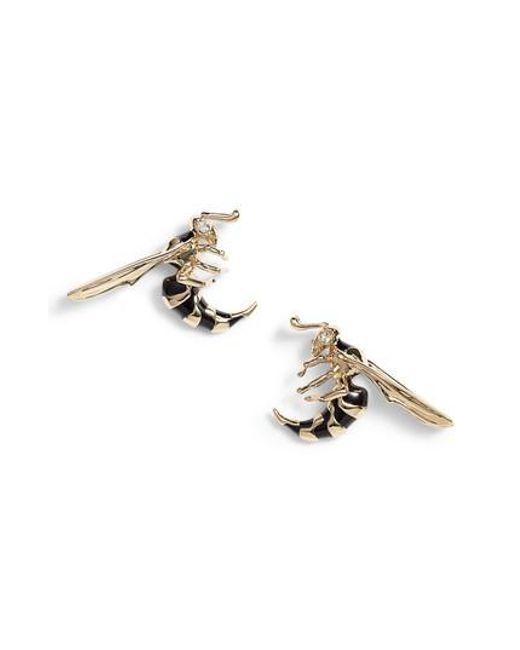 Alexis Bittar - Metallic Enameled Hornet Stud Earrings - Lyst