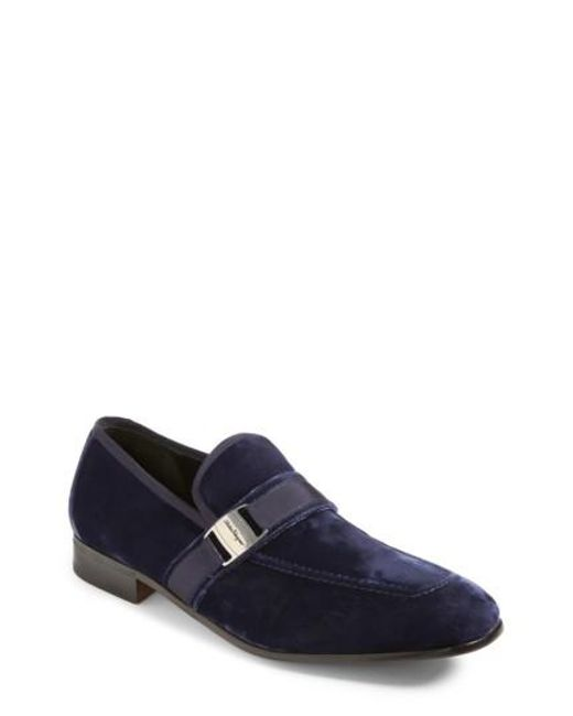 Ferragamo | Blue Danny 2 Bit Loafer for Men | Lyst