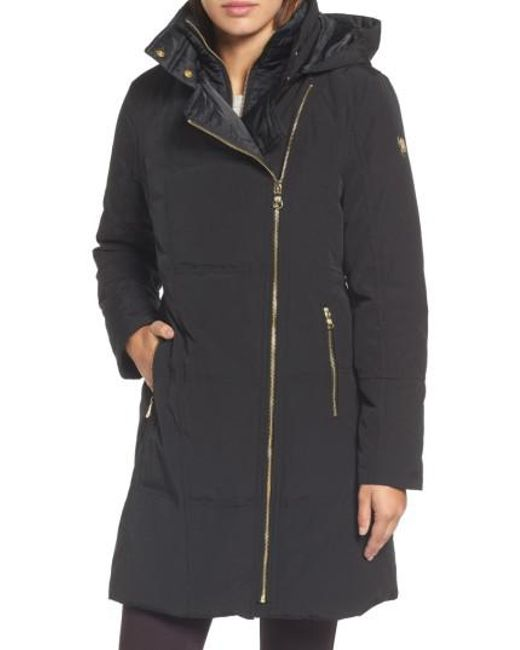 Vince Camuto | Black Down & Feather Fill Coat | Lyst