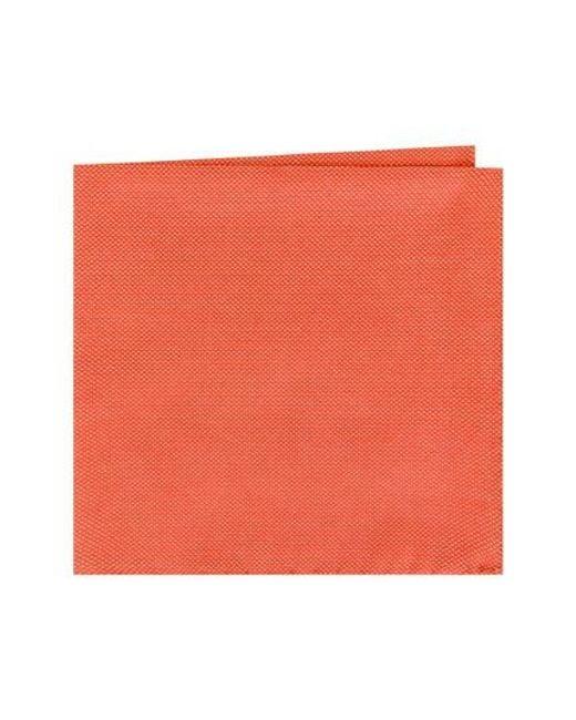 Ted Baker | Orange Solid Cotton Pocket Square for Men | Lyst
