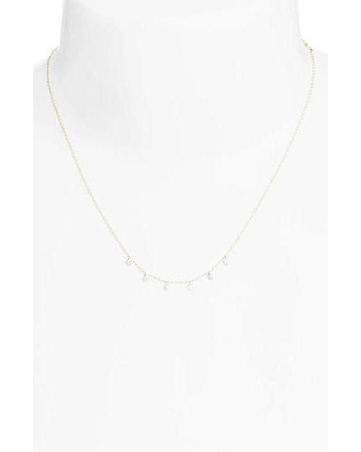 Meira T   Metallic Meria T Diamond Disc Collar Necklace   Lyst