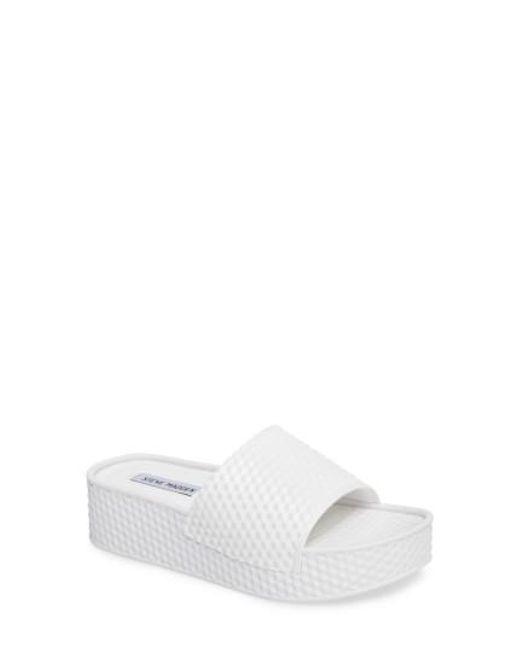 bc3e543d2281 Lyst - Steve Madden Sharpie White Rubber Sandal in White - Save 65%