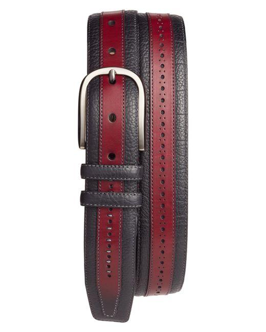 Mezlan - Red Palma Leather Belt for Men - Lyst