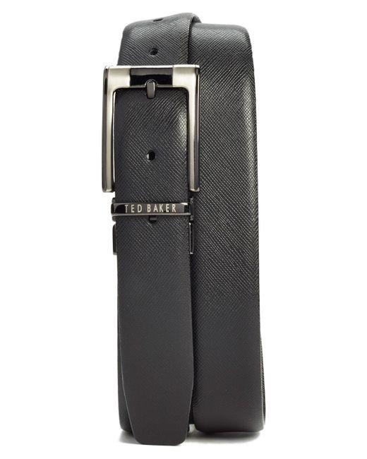 Ted Baker - Black Reversible Leather Belt for Men - Lyst