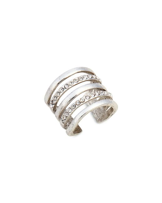 Karine Sultan - Metallic Claire Cage Ring - Lyst