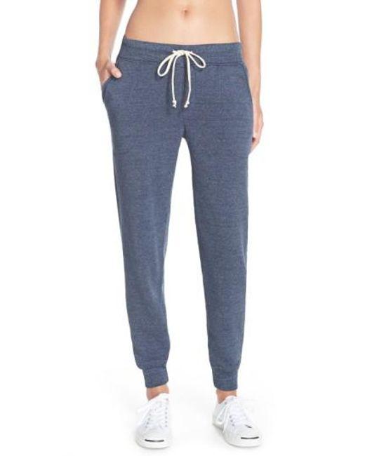 Alternative Apparel | Blue Fleece Jogger Sweatpants | Lyst