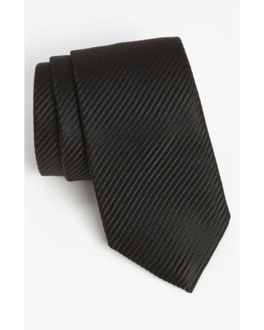 David Donahue | Black Woven Silk Tie for Men | Lyst
