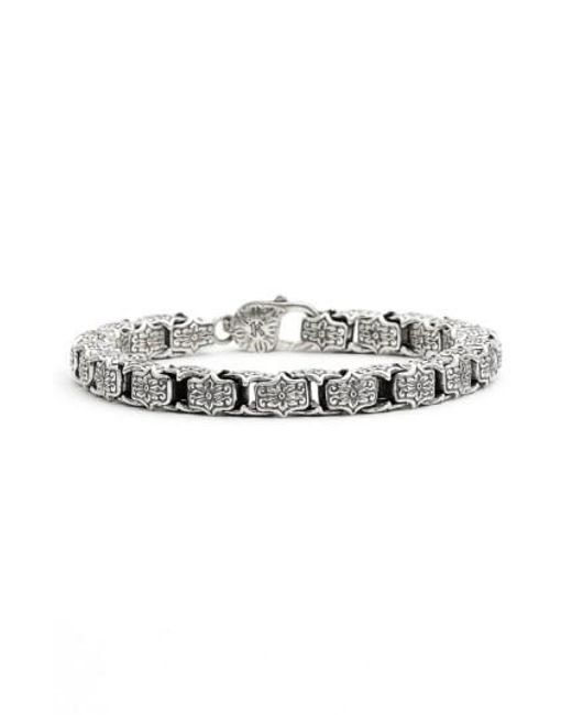 Konstantino | Metallic 'minos' Etched Medium Link Bracelet | Lyst