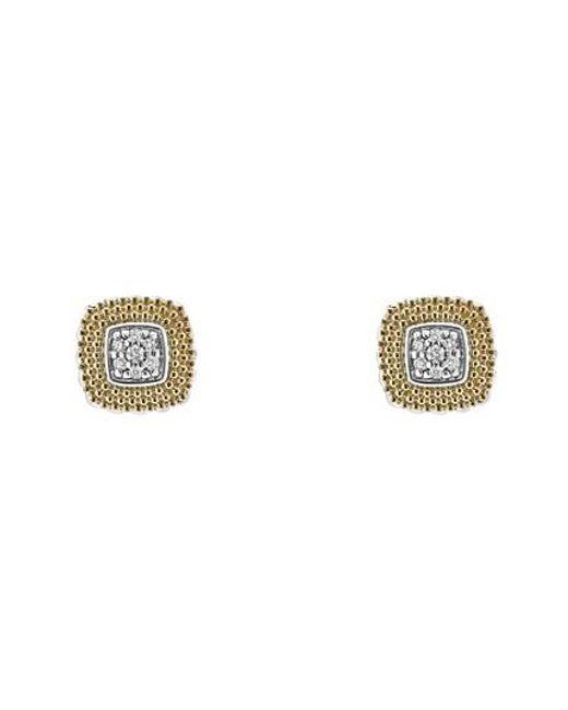 Lagos - Metallic Lux Diamond Stud Earrings - Lyst