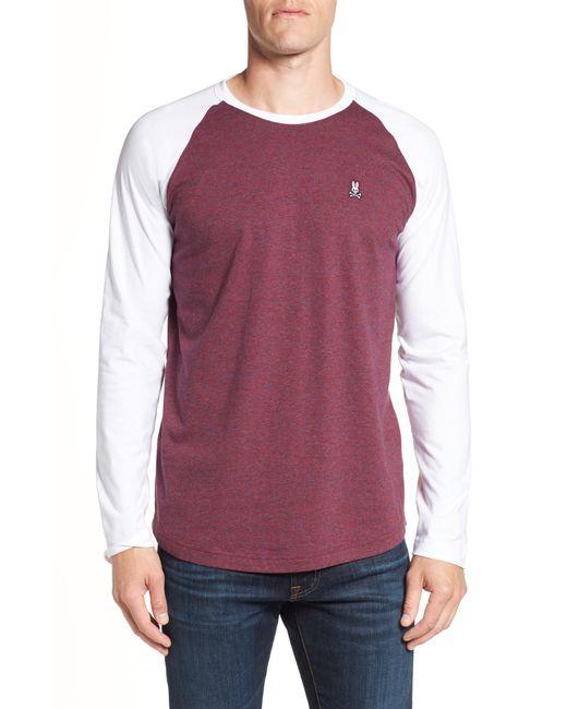Psycho Bunny - Purple Cobb Raglan T-shirt for Men - Lyst