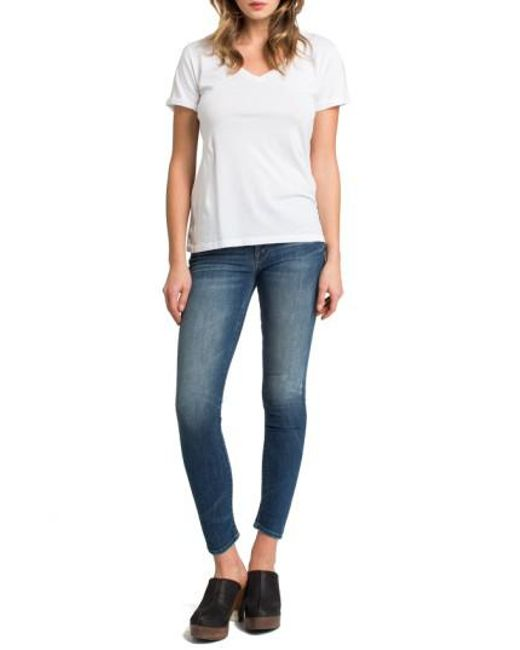 Lamade   White Cotton V-neck Tee   Lyst