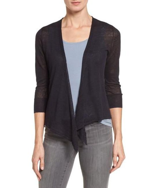 NIC+ZOE | Blue '4-way' Convertible Three Quarter Sleeve Cardigan | Lyst