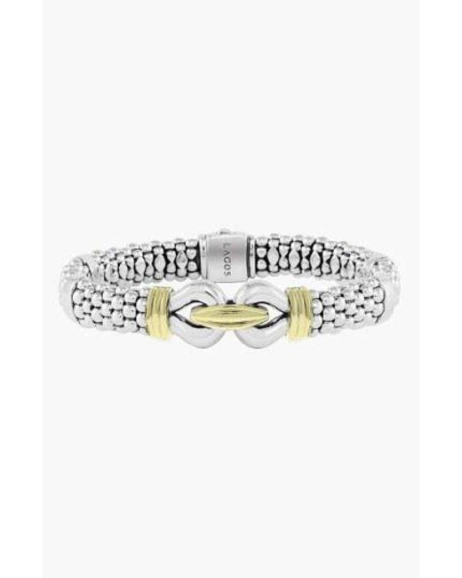 Lagos - Metallic 'derby' Two-tone Caviar Rope Bracelet (online Only) - Lyst