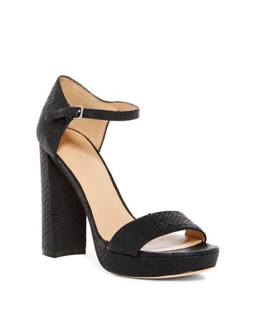 Pour La Victoire - Black Yvette Snake-embossed Platform Sandals - Lyst