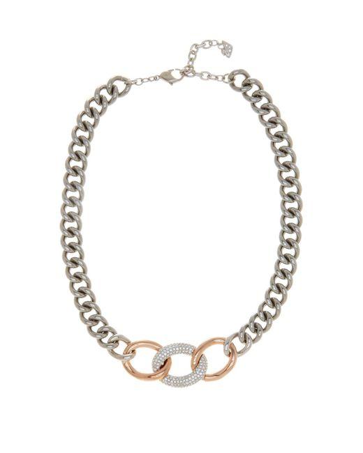 Swarovski | Metallic Bound Crystal Detail Chain Necklace | Lyst
