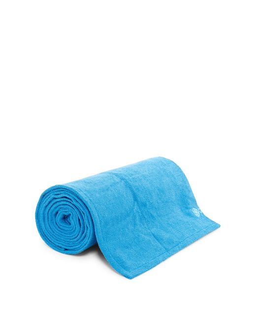 Gaiam Grippy Yoga Mat Towel In Blue