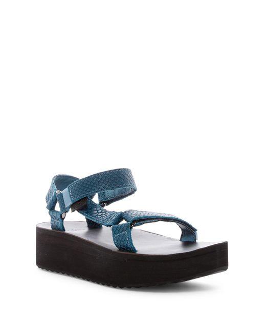 Teva | Blue Universal Flatform Sandal | Lyst