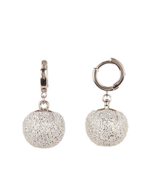 Rebecca Minkoff - Metallic High Shine Pompom Drop Earrings - Lyst