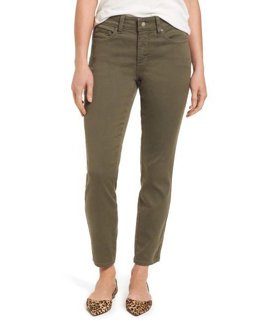 NYDJ - Green Ami Colored Stretch Skinny Jeans (petite) - Lyst