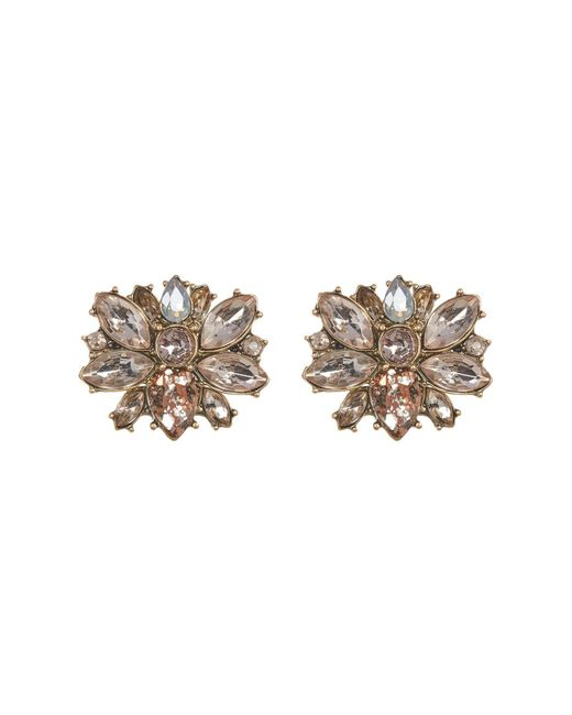 BaubleBar - Brown Wide Cluster Stud Earrings - Lyst