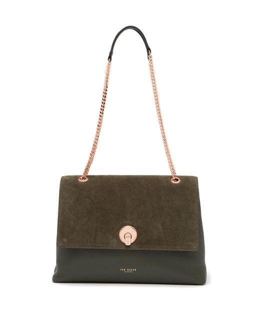 Ted Baker - Multicolor Sophina Suede Shoulder Bag - Lyst