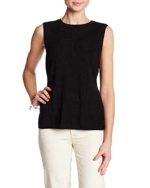 Club Monaco - Black Aggie Merino Wool Sleeveless Sweater - Lyst