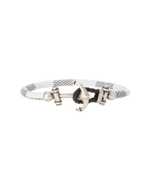 Steve Madden | Black Anchor Leather Bracelet | Lyst