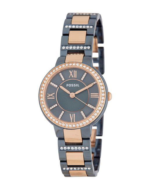 Fossil - Blue Women's Virginia Bracelet Watch, 30mm - Lyst