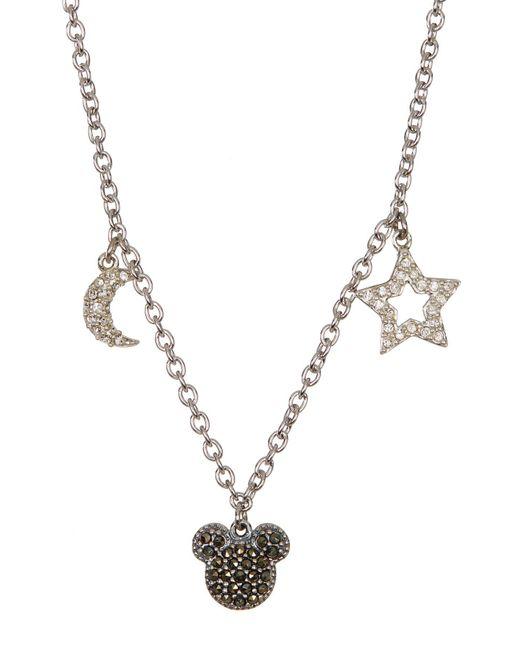Judith Jack - Metallic Sterling Silver Pave Swarovski Marcasite & Crystal Charm Mickey Necklace - Lyst