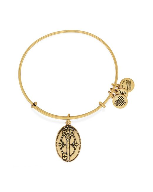 ALEX AND ANI - Metallic Key To Life Charm Expandable Wire Bracelet - Lyst