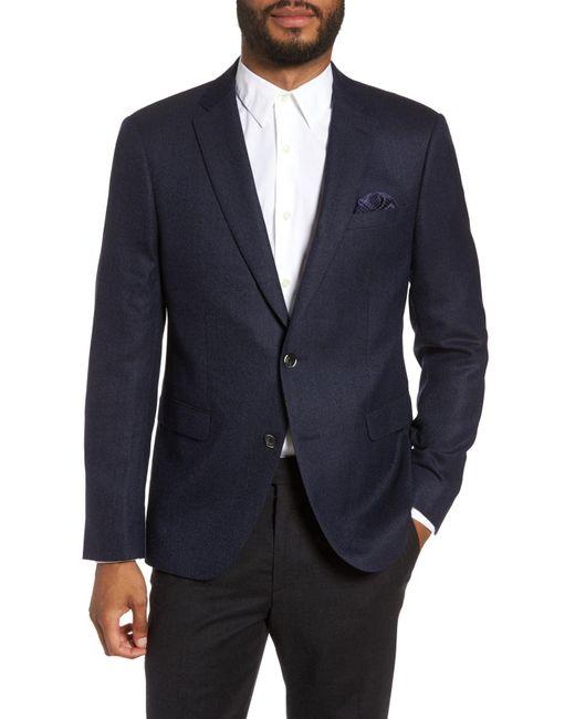 Sand - Blue Trim Fit Wool Blazer for Men - Lyst