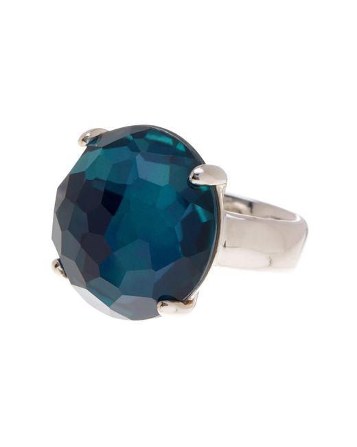 Ippolita - Metallic Wonderland Large Round Blue Crystal Ring - Lyst