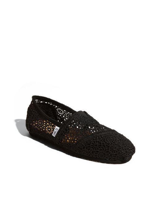 TOMS | Black 'classic' Crochet Slip-on (women) | Lyst