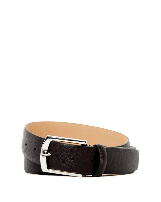 Trafalgar   Brown Saffiano Leather Belt for Men   Lyst