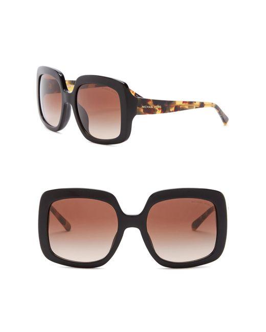 Michael Kors - Brown Women's Harbor Mist 55mm Square Sunglasses - Lyst