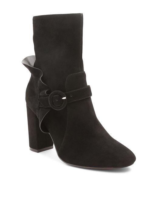 Kensie - Black Lacey Heel Bootie - Lyst
