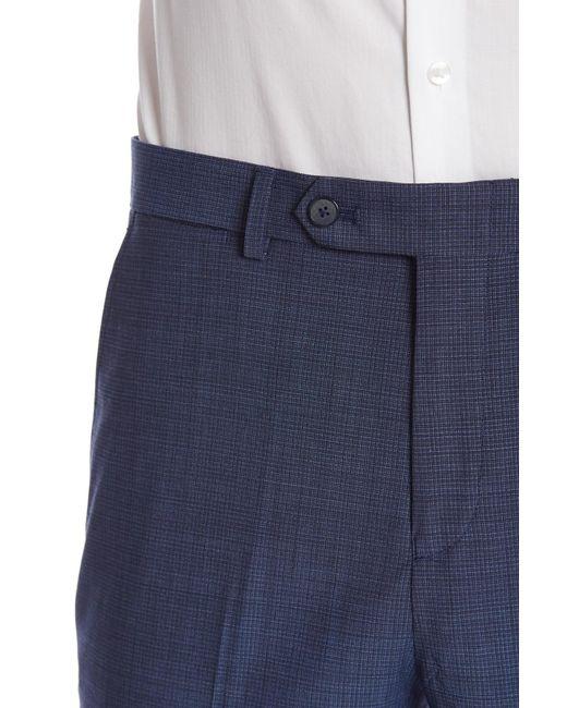 6cba6d6b23 ... Ben Sherman - Bell Blue Micro Check Two Button Notch Lapel Coolmax  Fabric Slim Fit Suit ...