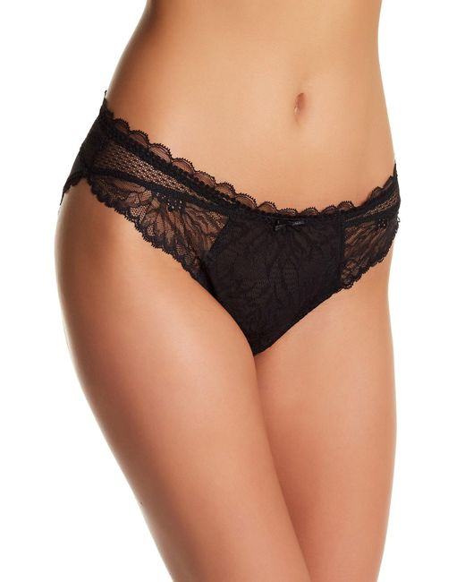Chantelle Opera Semi sheer Lace Brief In Black Lyst