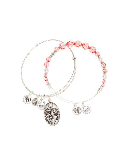 ALEX AND ANI | Metallic Rouge Pegasus Beaded Bangle Bracelets - Set Of 2 | Lyst