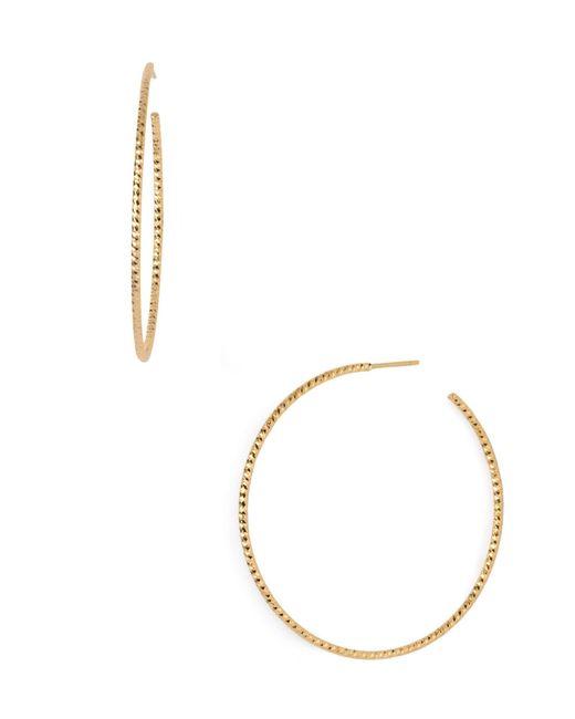 Argento Vivo - Metallic Textured Hoop Earrings - Lyst