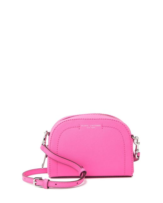 37b4abce1 Marc Jacobs Playback Leather Crossbody Bag in Pink - Save 25% - Lyst