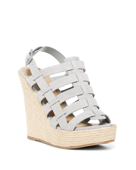 Chinese Laundry | Gray Dance Party Platform Wedge Sandal | Lyst