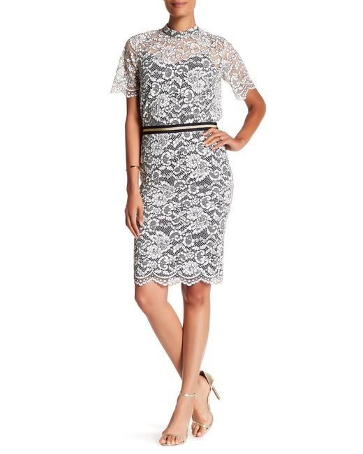 Trina Turk   Multicolor Paltrow Lace Skirt   Lyst