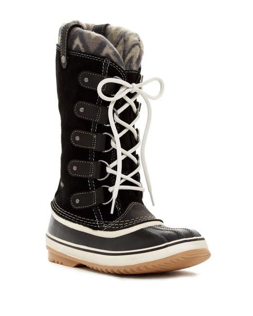 Sorel | Black Joan Of Arctic Knit Ii Waterproof Boot (women) | Lyst