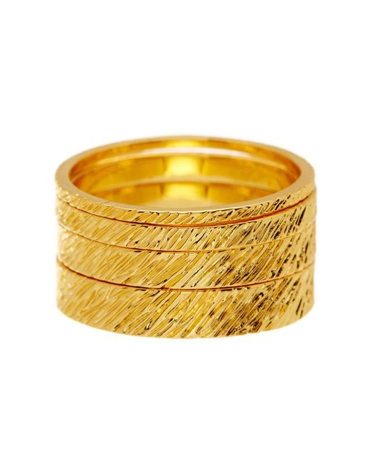 Gorjana | Metallic Knox Stacking Ring Set - Size 7 | Lyst