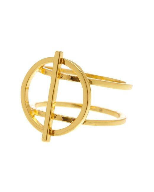 Gorjana | Metallic Anya Circle Ring - Size 6 | Lyst