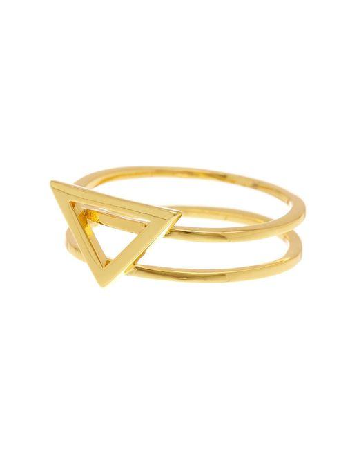 Gorjana | Metallic Anya Triangle Ring - Size 8 | Lyst