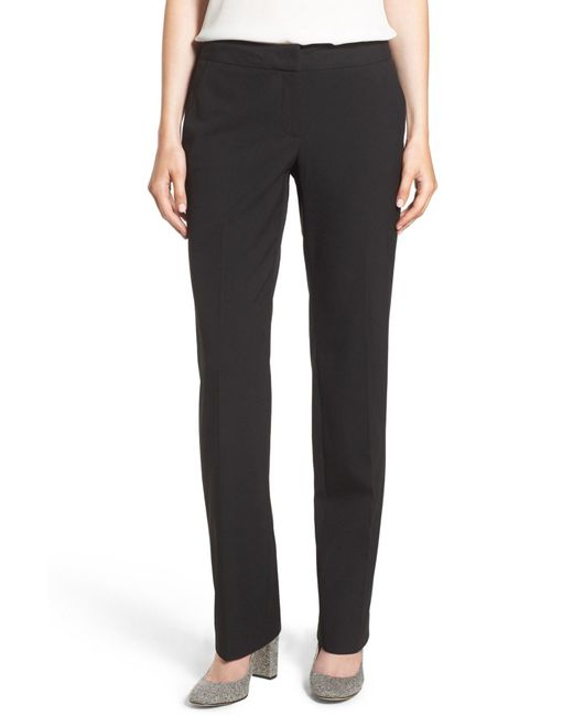 Halogen - Black Taylor Ela Straight Leg Suit Pants - Lyst