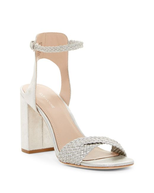 Pour La Victoire | Metallic Hazel Woven Dress Sandal | Lyst