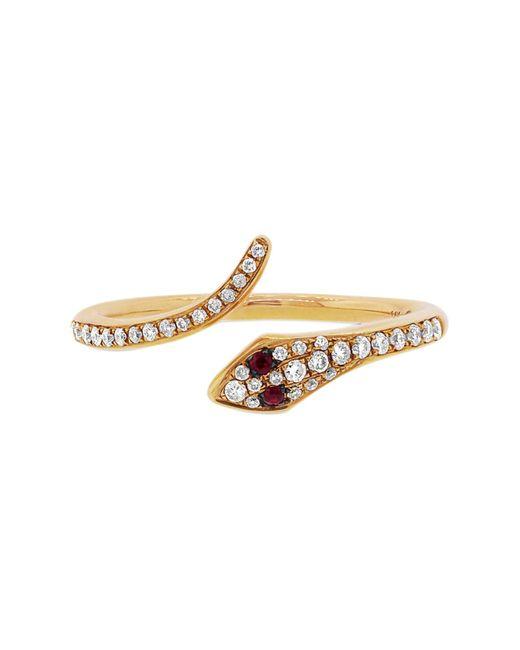 Ron Hami - Metallic 14k Yellow Gold Diamond & Ruby Snake Bypass Ring - Size 7 - Lyst
